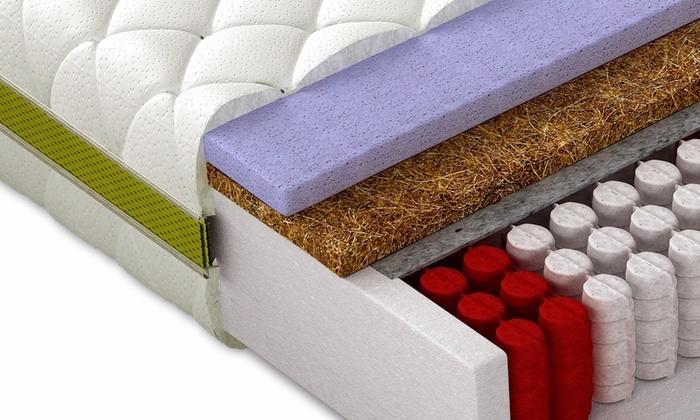 Hardheid Matras H3 : Pocketvering matras met 9 zones groupon goods