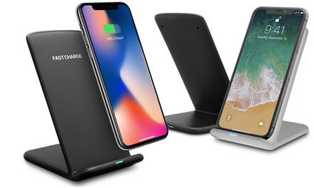 One or Two Wireless Desktop Charging Stands with LED Indicator