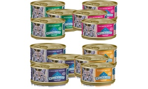 Blue Buffalo Wet Cat Food Can 4 Flavors Bundle (12- or 24-Pack)