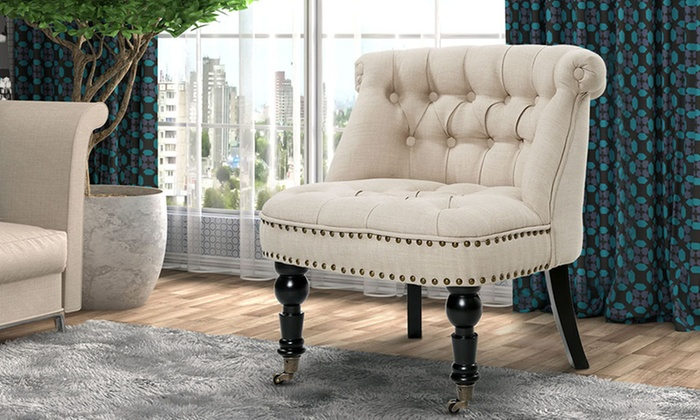 French Provincial Fabric Chair ...