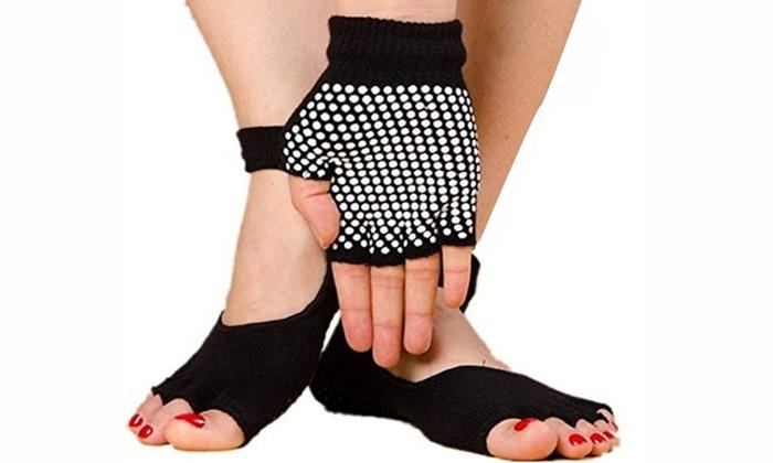 Toeless Yoga Socks and Glove Set