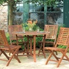 Eucalyptus Hardwood Folding Chair Set (2-Piece)