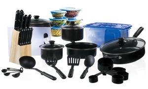 Temporary Price Cut: Cookware and Cutlery Starter Set (102-Piece) at Temporary Price Cut: Cookware and Cutlery Starter Set (102-Piece), plus 6.0% Cash Back from Ebates.