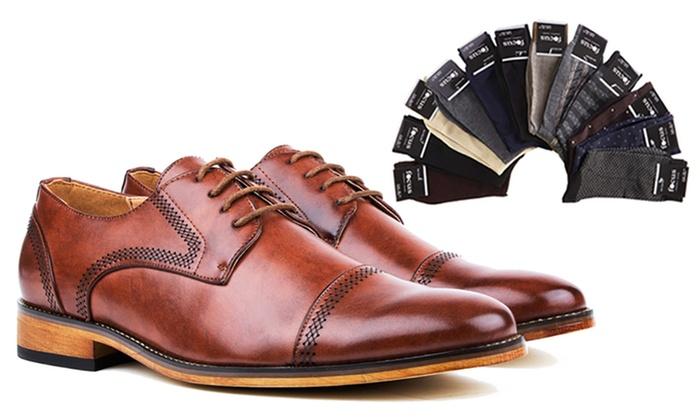 Gino Vitale Men S Cap Toe Dress Shoes