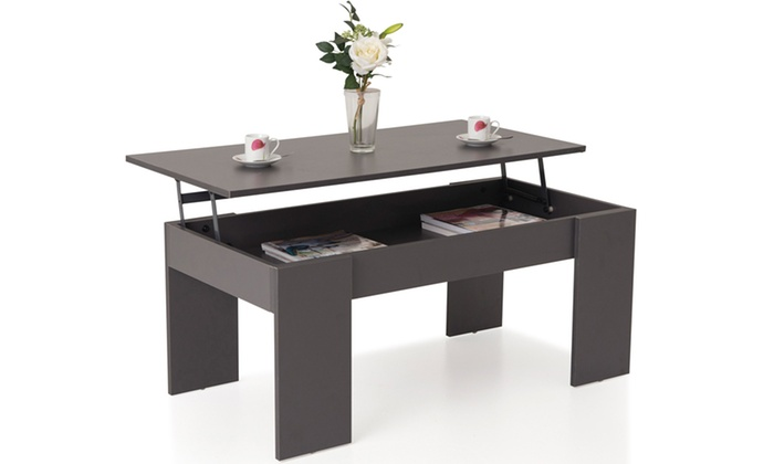 Table basse plateau relevable groupon for Groupon table basse