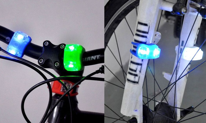 TINYDEAL TRADING LIMITED: $6 for a Set of Front and Rear LED Frog Bike Bicycle Lights