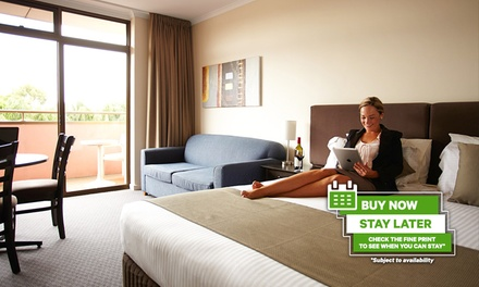 Adelaide: 1-3 Nights for 2 People with a Bottle of Wine and Late Check-Out at Adelaide Meridien Hotel & Apartments