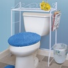 Over-the-Toilet Metal Organizer with Magazine Rack