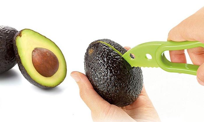 Cuchillo para aguacate 3 en 1 groupon goods for Cuchillo fruta