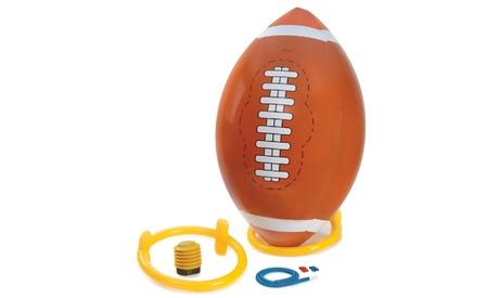 Giant 4 Ft. Inflatable Football with Tee and Pump e12171a4-e4ec-11e6-83f6-00259069d868