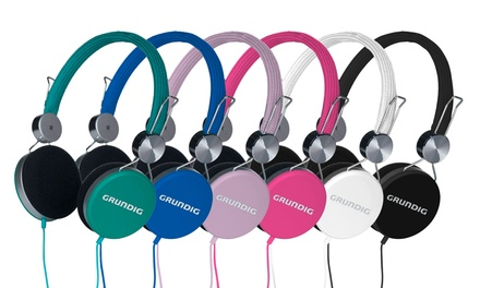 Grundig Elastic Kopfhörer mit nachgiebigem Nylonbügel in der Farbe nach Wahl