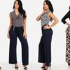 Women's Wrap Jumpsuits with Optional Belt