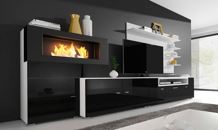 Favoriete TV-meubel met open haard | Groupon Goods &CI74