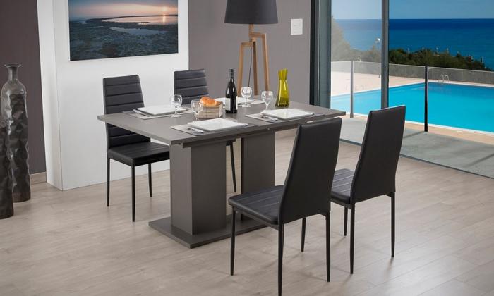 Table extensible avec sans chaises groupon shopping for Table extensible groupon