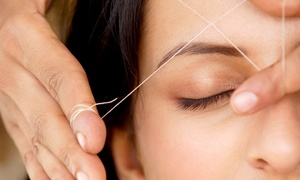 Just Perfect Threading & Salon: Eyebrow and Lip Threading or Eyebrow and Full Face Threading at Just Perfect Threading & Salon (Up to 53% Off)
