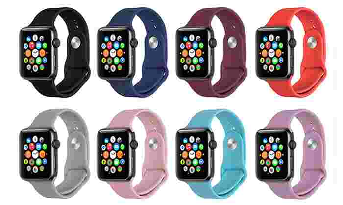 Silicone Sport Replacement Band for Apple Watch Series 1 & 2: Silicone Sport Replacement Band for Apple Watch Series 1 & 2