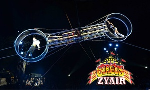 Circus Zyair: Circus Zyair: Ticket for Up to Four with Popcorn at Danson Park, 27 October-1 November (Up to 65% Off)