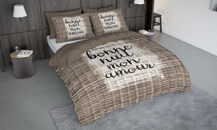 jusqu 39 37 housse de couette microfibre groupon. Black Bedroom Furniture Sets. Home Design Ideas
