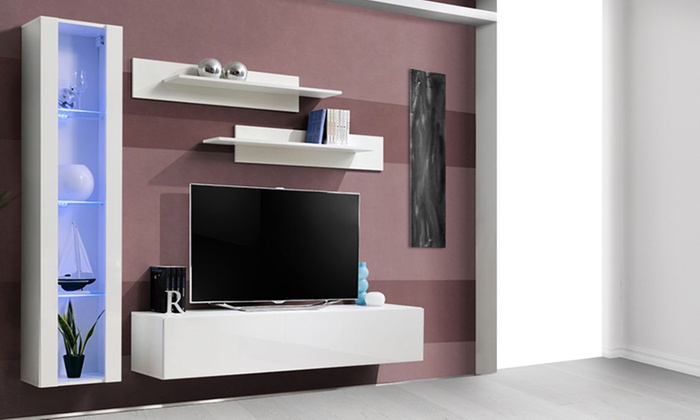 Mueble de sal n para tv groupon goods - Groupon muebles salon ...