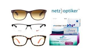 Netzoptiker: Wertgutschein über 40 €, 70 € oder 100 € anrechenbar auf Brillen, Sonnenbrillen, Linsen und Pflegemittel von netzoptiker