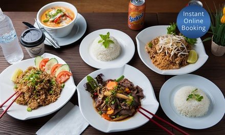 Thai Lunch with Hot or Cold Drink for One $10, Two $20, or Four People $40 at Thaiger Up to $61.60 Value