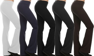 Women's Fold-Over Waistband Yoga Pants (4-Pack) at Women's Fold-Over Waistband Yoga Pants (4-Pack), plus 9.0% Cash Back from Ebates.