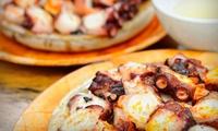 Menú cocina vasca para 2 o 4 con entrante, principal, postre y botella de vino o bebida desde 24,95 € en Taberna Zarika