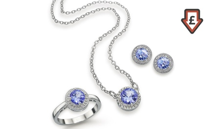 Genuine Tanzanite Earrings, Necklace, Ring or Set