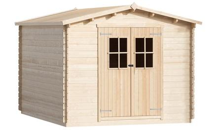 Abri de jardin pour bûches de bois 34 mm en bois massif