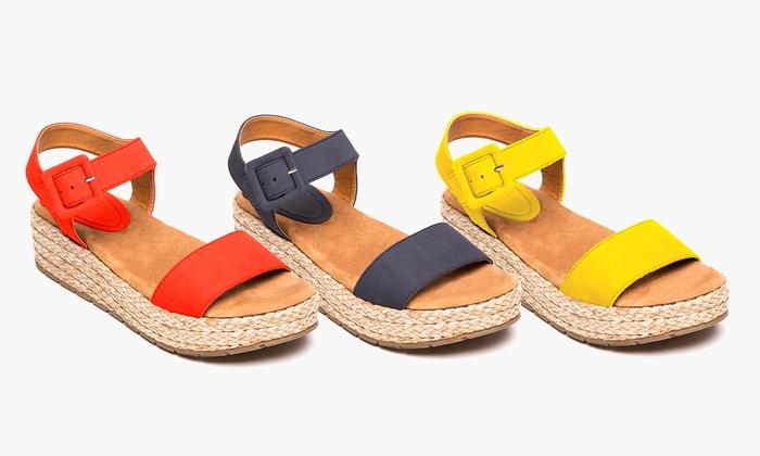 Kenneth Cole Reaction Women's Platform Espadrille Sandals