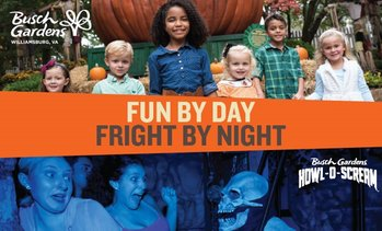 45% Off Admission at Busch Gardens Williamsburg & Howl-O-Scream