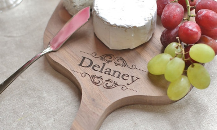 Morgann Hill Designs: One or Two Custom Cheese Boards from Morgann Hill Designs (Up to 55% Off)