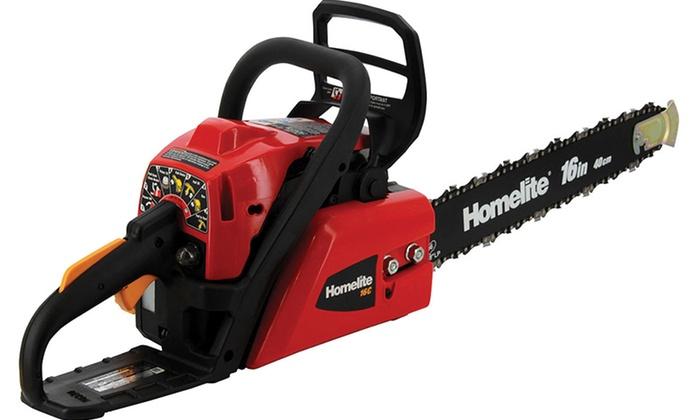 Homelite 16 gas chainsaw groupon goods homelite 16 gas chainsaw refurbished keyboard keysfo Images