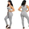 Juniors' Sleeveless Graphic Drawstring Jumpsuit (Size XL)