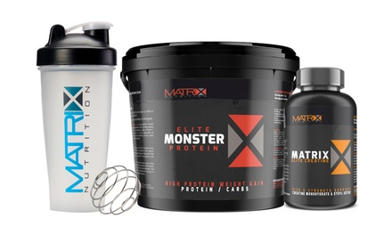 Matrix Monster Elite Protein with Shaker Plus Creatine Tablets from £24.98 (Up to 80% Off)
