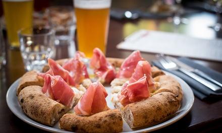 Menu pizza gourmet alla carta con dolce e birra per 2 o 4 persone da Lumacheria Da Cini (sconto fino a 65%)