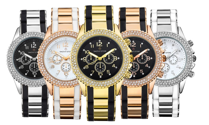 Groupon Goods Global GmbH: Timothy Stone Amber Watch with Crystals from Swarovski® for €28.99 (78% Off)