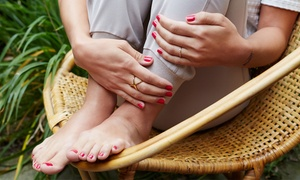 Absolut Hair: One Steam Pedicure with Optional Classic Manicure at SWANQ Style Studio (Up to 52% Off)