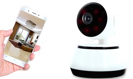 Caméra de surveillance 360°wifi et sans fil avec micro SD 8GB,16GB,32GB ou 64GB en option