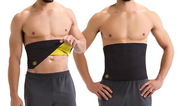Hot Abs Men's Compression Body Shaper Belt