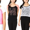 Girls' Lace LOVE Top