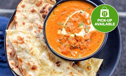 Takeaway Meal: Veggie $16.99 or 2 Ppl $34.99, or Meat $18.99 or 2 Ppl $37.99 from Bollywood Bar