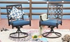Swivel Chairs with Seat Cushions (2-Pack)