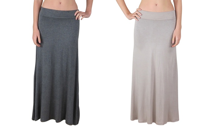 8ff85367b Up To 25% Off on FTL Women's Maxi Skirt | Groupon Goods