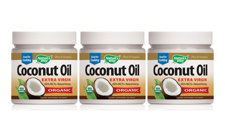 Nature's Way Coconut Oil; 3-Pack of 32oz. Bottles + 5% Back in Groupon Bucks