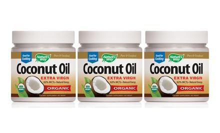 Nature's Way Coconut Oil; 3-Pack of 32oz. Bottles + 5% Back in Groupon Bucks