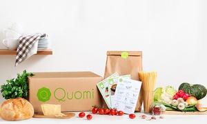 Quomi: Food Box con consegna a domicilio per preparare cene salutari e gustose a casa per 2 o 4 persone con Quomi.it