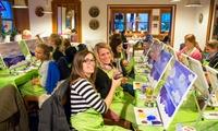 Mal-Party auf Großleinwand 40x50cm für 1 oder 2 Personen in Deinen BarsRestaurants mit ArtMasters (bis zu 41% sparen*)