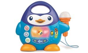 Pingouin karaoké avec microphone