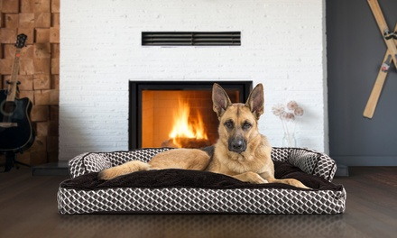 Insulating Sofa-Style Fiber Filled Pillow Dog Bed